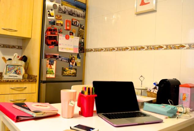trabajando en casa